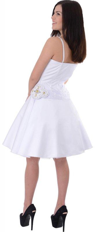 Купить Кокетливое вечернее платье белого цвета на бретельках