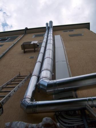 Flues from stainless steel, flue accessories