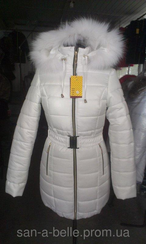 Женская зимняя куртка, модель Дутик белый