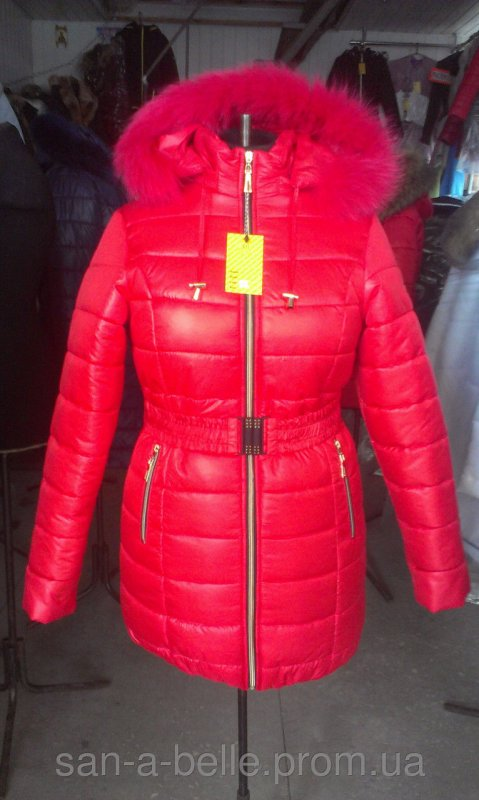 Женская зимняя куртка, модель Дутик красный