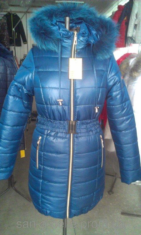 Женская зимняя куртка, модель Дутик синяя