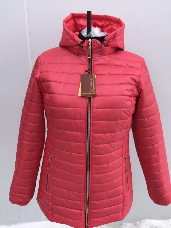 Куртка женская весенняя модель Женская коралл