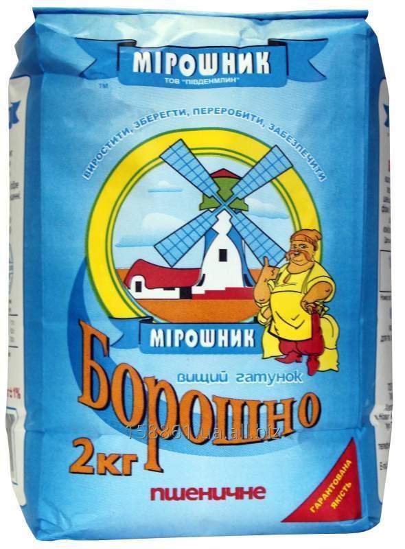 Мука пшеничная высшего сорта 2 кг