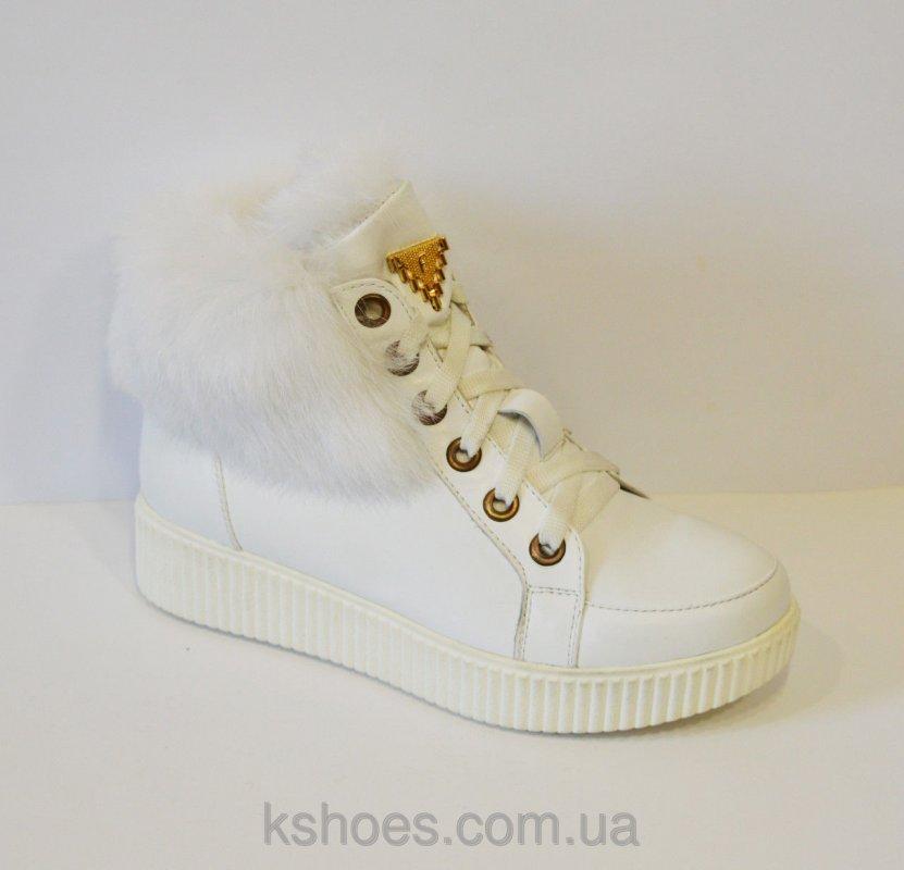 Купить Белые ботинки с мехом El Passo 1592