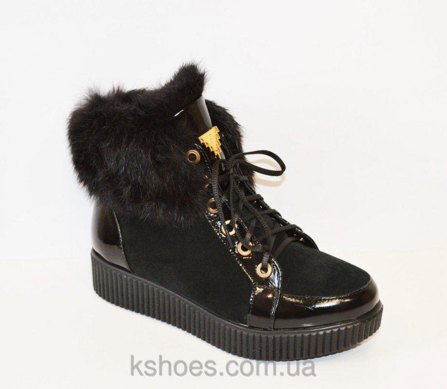 Купить Черные ботинки с мехом El Passo 1592