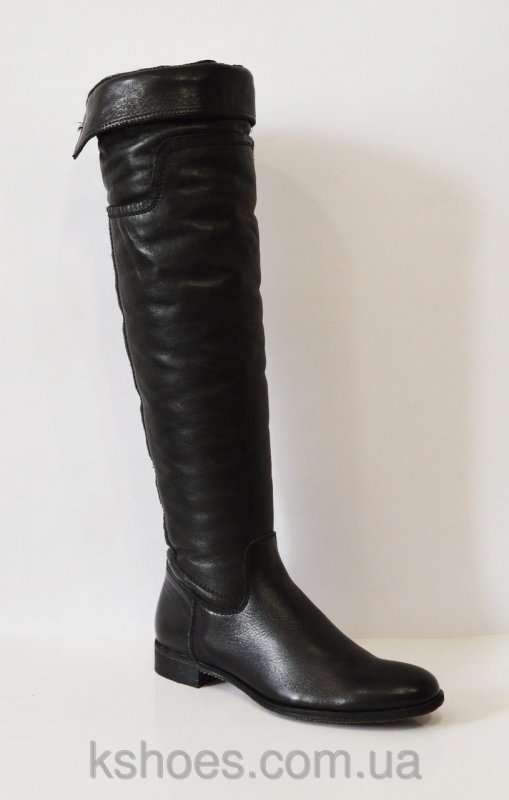 Купить Черные кожаные сапоги Nessi 201