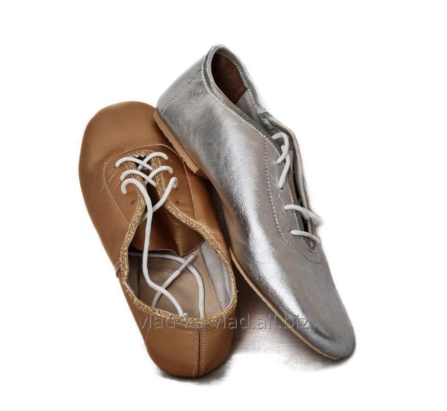 Купить Джазовки золото, серебро, кожаные на шнурках.