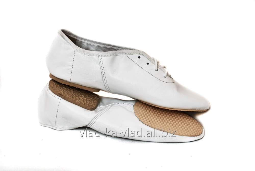 Купить Джазовки белые, кожаные на шнурках.