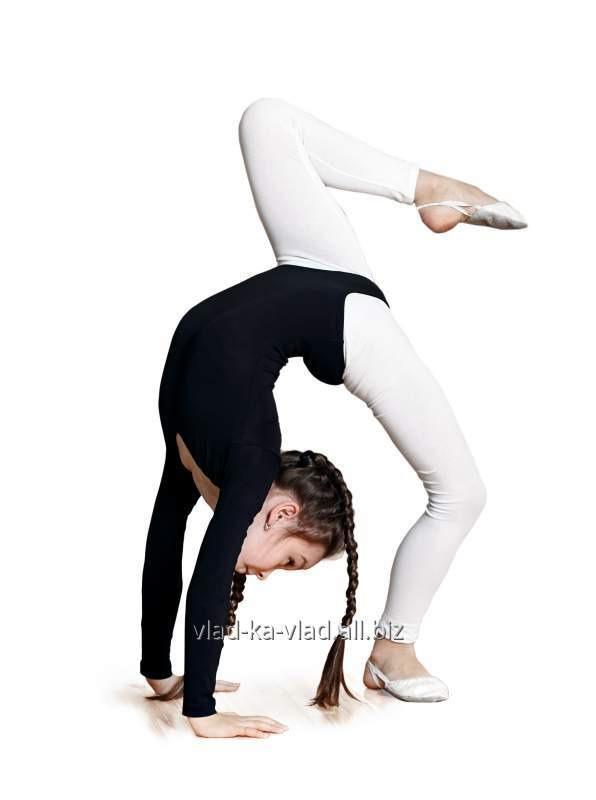 Купить Лосины для гимнастики белые и черные хб-92..эл.-8...плотность 220 гр.на метр
