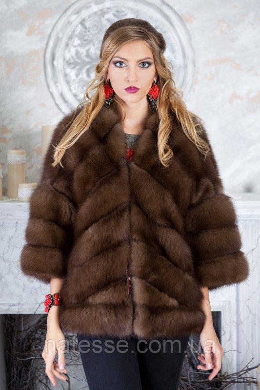 """Полушубок жилет из канадской куницы """"Яна"""" marten fur coat jacket"""
