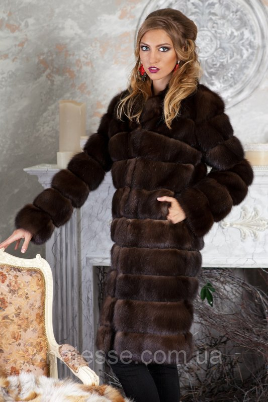 "Шуба полушубок из соболя баргузина ""Мадлен"" sable jacket fur coat"