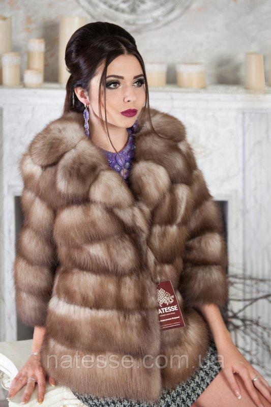 """Полушубок из светлой куницы """"Анна"""" marten fur coat jacket"""