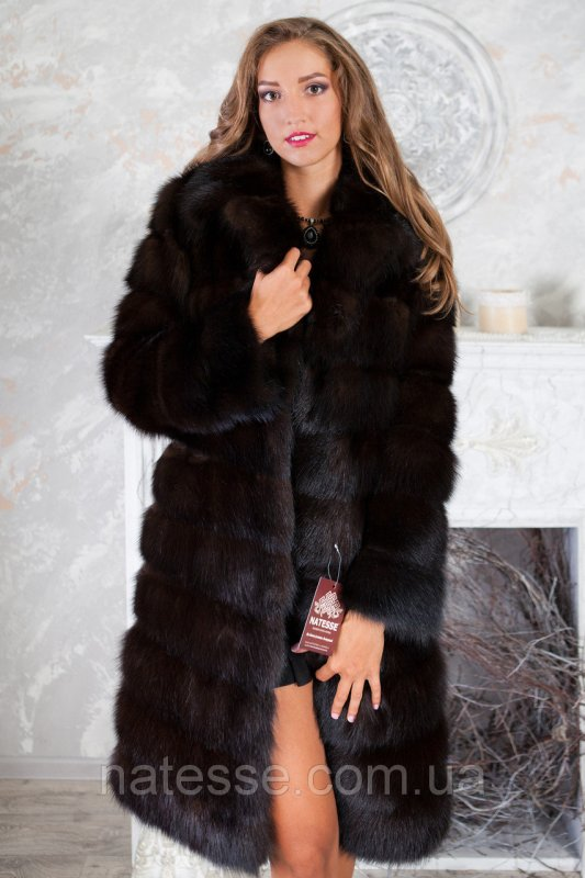 """Шуба из темной куницы """"Галла"""" marten fur coat jacket"""