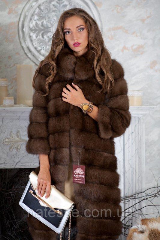 """Шуба из темной куницы """"Александра"""" marten fur coat jacket"""