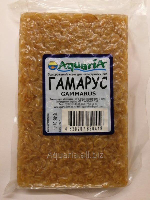 Купити Заморожений корм для риб Гаммарус. Вакуум упаковка.