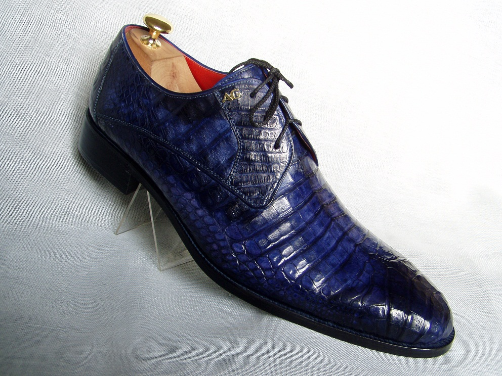 Мужские ботинки из кожи аллигатора