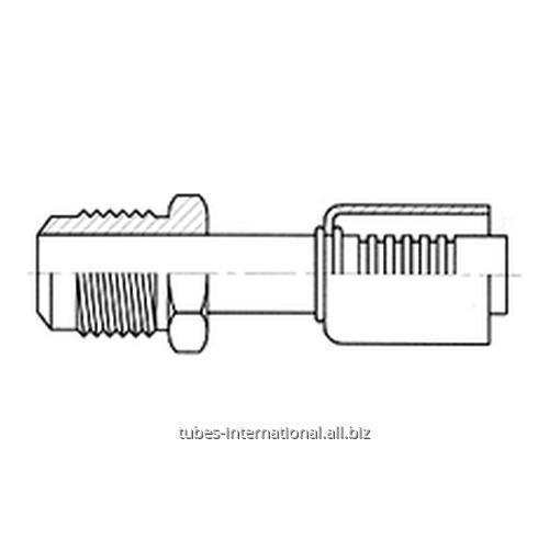 Фитинг с наружной резьбой UNF, тип SAE, конус 45°