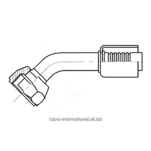 Фитинг 45° свнутреннейрезьбой UNF, трубчатый