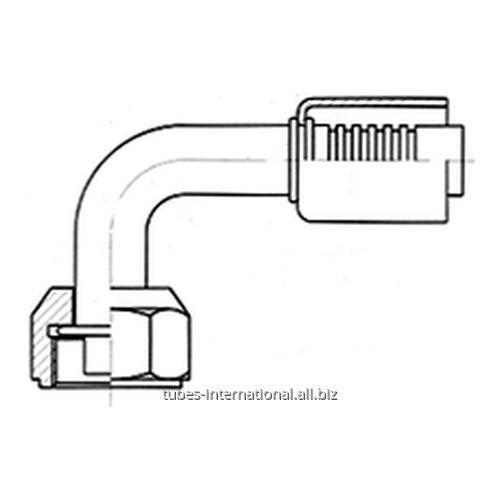 Фитинг 90° с внутренней резьбой UNF, трубчатый