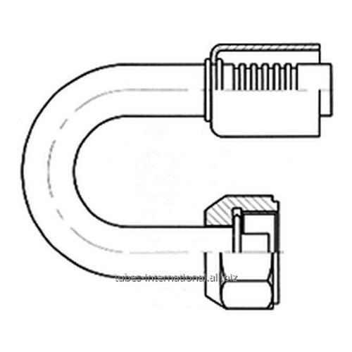 Фитинг 180° с внутренней резьбой UNF, трубчатый