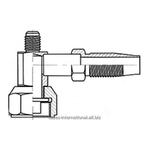 Фитинг 90° компакт с внутренней резьбой UNF, трубчатый, с клапаном R12