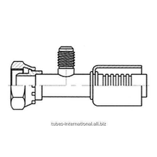 Фитинг для компрессора, с внутренней резьбой UNF, с клапаном R12