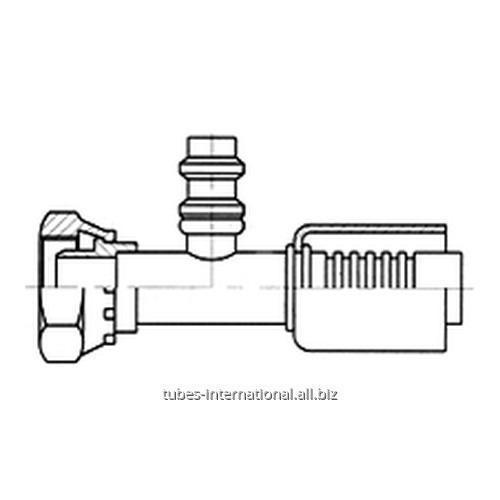 Фитинг для компрессора, с внутренней резьбой UNF, с клапаном R134