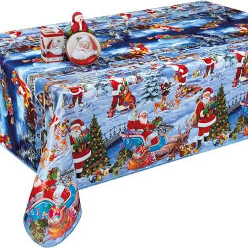 Купить Праздничная силиконовая клеенка на стол к Новому году, 1265-1