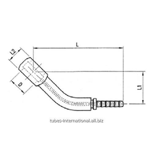 Фитинг для тормозных шлангов из тефлона DN 3 обжимаемый 45° Банджо