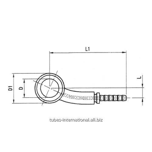 Фитинг для тормозных шлангов из тефлона DN 3 обжимаемый 15° Банджо боковое