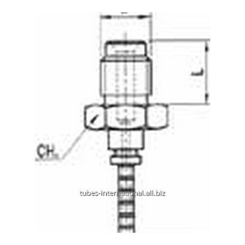 Фитинг для тормозных шлангов из тефлона Наружная резьба, уплотнение внутренний конус DN 3 обжимаемый