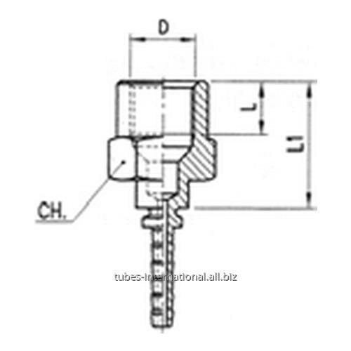 Фитинг для тормозных шлангов из тефлона Внутренняя резьба DN 3 обжимаемый