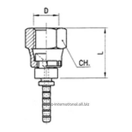 Фитинг для тормозных шлангов из тефлона Внутренняя резьба с гайкой DN 3 обжимаемый