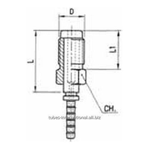 Фитинг для тормозных шлангов из тефлона Наружная резьба с гайкой DN 3 обжимаемый