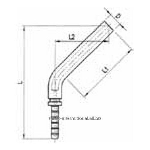 Фитинг обжимаемый для тормозных шлангов из тефлона 45° Цилиндрический
