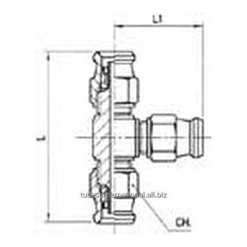 Тройной фитинг скручиваемый для тормозных шлангов из тефлона