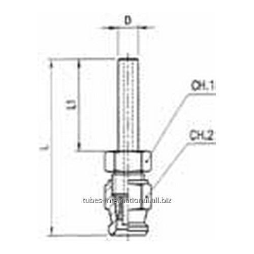 Цилиндрический фитинг скручиваемый для тормозных шлангов из тефлона