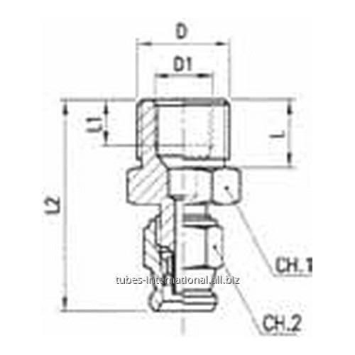 Фитинг скручиваемый для тормозных шлангов из тефлона Наружная / внутренняя резьба