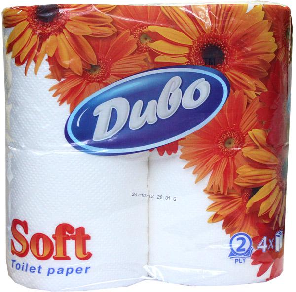 БумагатуалетнаяДивоSoft,по4рулона в упаковке,нагильзе,2-хсл.,белый