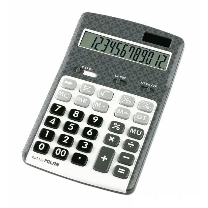 Купить Калькулятор Milan настольный, 12 разрядный, серый (ml.150712AGBL)
