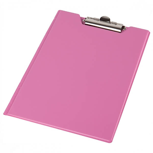 Clipboard folder of Panta Plast A5 PVC, pink (0314-0005-30)