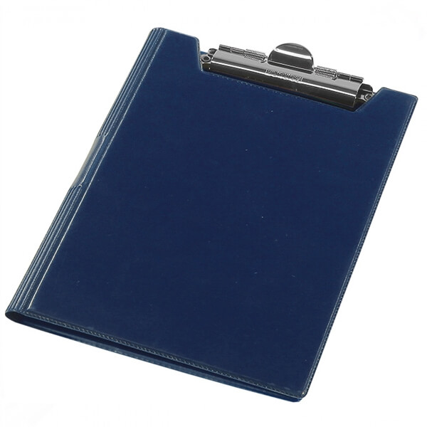The clipboard folder of Panta Plast A5 blamed, dark blue (0314-0006-02)