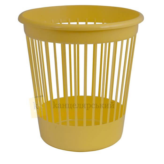 Basket office Arnica for papers of 10 l., plastic, yellow