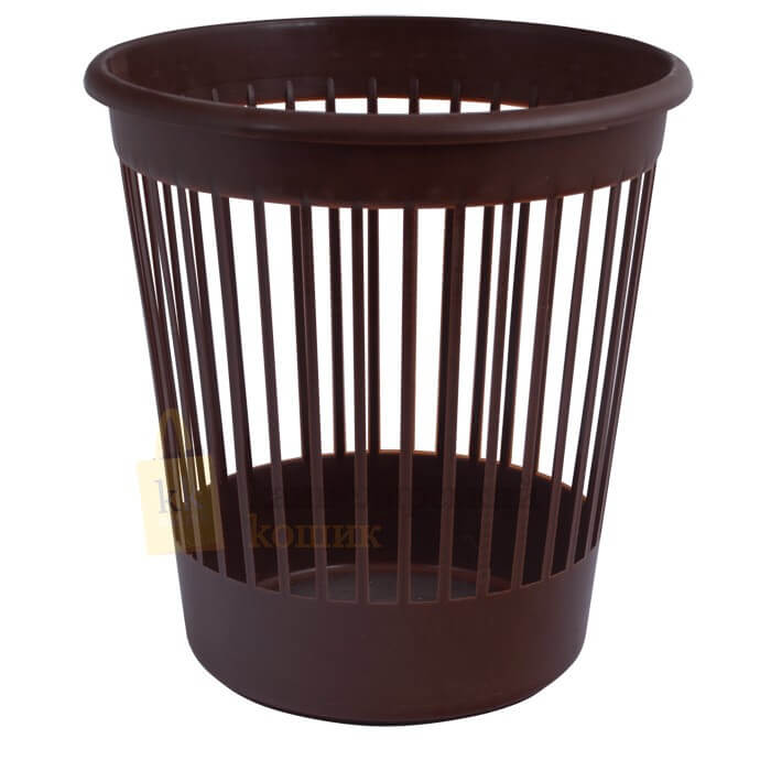 Basket office Arnica for papers of 10 l., plastic, brown