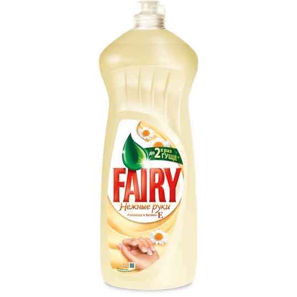 Купить Средство для посуды Fairy Нежные руки 1л Ромашка и витамин Е