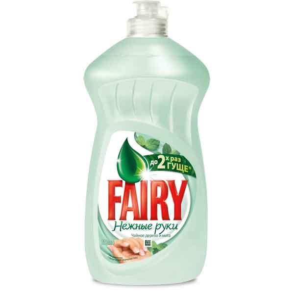 Купить Средство для посуды Fairy Нежные руки 500мл Чайное дерево и мята
