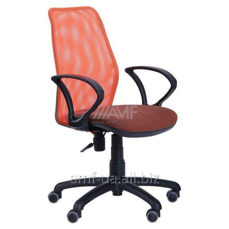 Кресло Oxi/АМФ-4 сиденье Поинт-70/спинка Сетка оранжевая