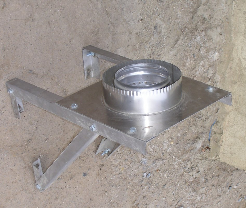 Купить Подставка напольная, настенная, разгрузочная (с теплоизоляцией) из нержавеющей стали: диаметр (ф300 / 360)