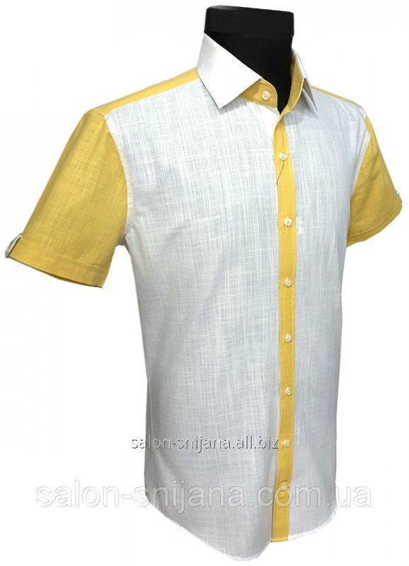 Купить Мужская рубашка с коротким рукавом №12.100