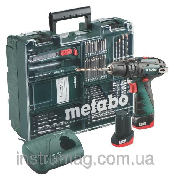 Купить Аккумуляторный ударный шуруповерт Metabo PowerMaxx SB Basic Set